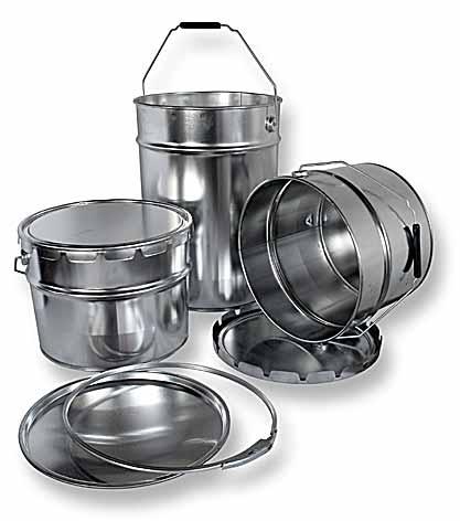 Tinpack.pl Opakowania metalowe, puszki, wiadra, puszki aerozolowe 150, 300, 400, 500, 750 ml, 1, 2,5 ,5, 10, 12, 15, 20 L
