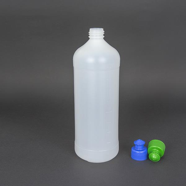 Butelki plastikowe HDPE 1,0L z nakrętką Pull Pusz